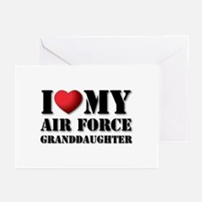 Air Force Granddaughter Greeting Cards (Package of