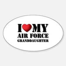 Air Force Granddaughter Oval Decal