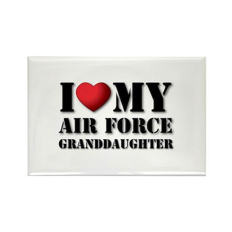 Air Force Granddaughter Rectangle Magnet