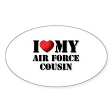 Air Force Cousin Oval Decal