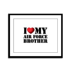 Air Force Brother Framed Panel Print