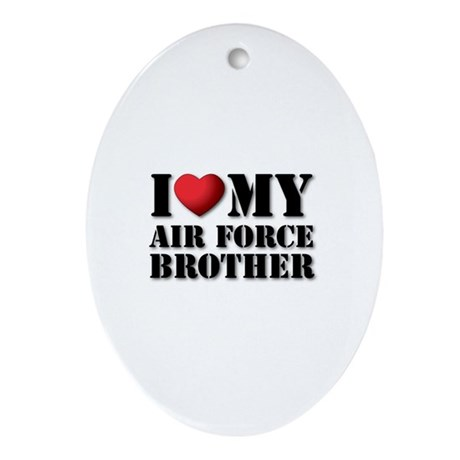 Air Force Brother Oval Ornament
