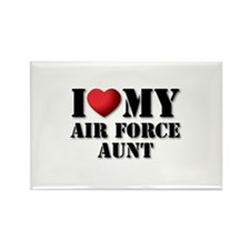 Air Force Aunt Rectangle Magnet