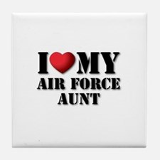 Air Force Aunt Tile Coaster