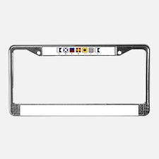 Nautical America License Plate Frame