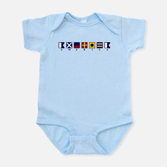 Nautical America Infant Bodysuit