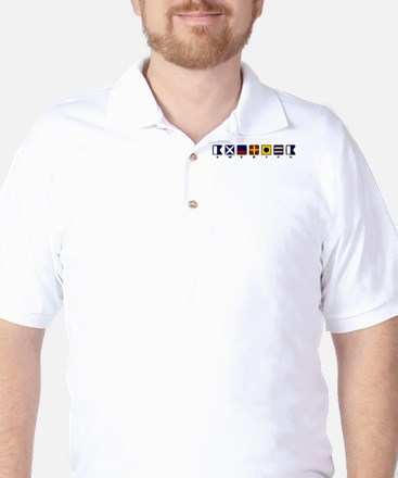 Nautical America Golf Shirt