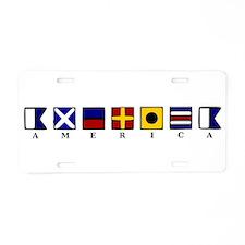 Nautical America Aluminum License Plate