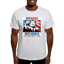 ARNOLD FOR PRESIDENT Ash Grey T-Shirt