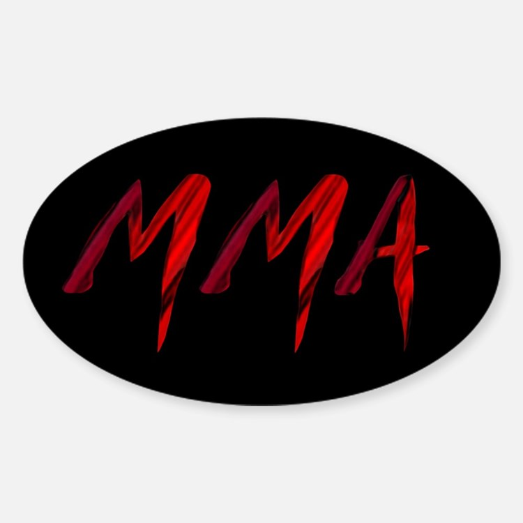 MMA Sticker (Oval)