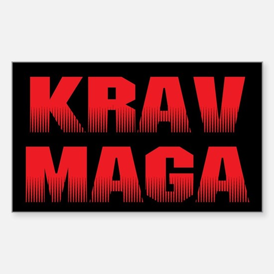 Krav Maga Sticker (Rectangle)