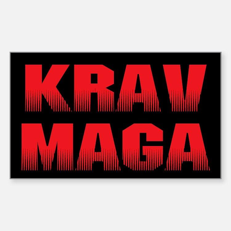 Krav Maga Sticker (Rectangle)