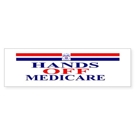 Hands OFF Medicare Sticker (Bumper)