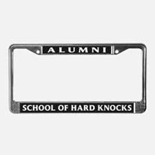 Alumni, School of Hard Knocks License Plate Frame