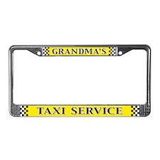 Grandma's Taxi Service License Plate Frame