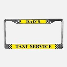 Dad's Taxi Service License Plate Frame