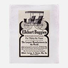 1909 Buggy Ad Throw Blanket