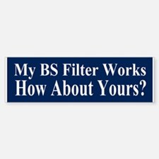 BS Filter Bumper Bumper Sticker