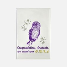 OWL Graduate Rectangle Magnet