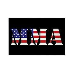 USA MMA Rectangle Magnet