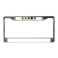 Nautical Aiden License Plate Frame
