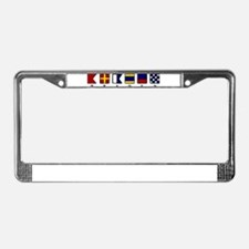Nautical Braden License Plate Frame