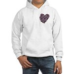 Purple Love Fireworks Hooded Sweatshirt