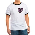 Purple Love Fireworks Ringer T