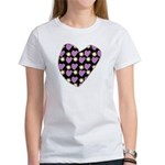 Purple Love Fireworks Women's T-Shirt