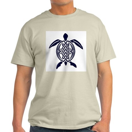 Blue Celtic Turtle Ash Grey T-Shirt
