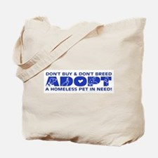 Blue Adopt Tote Bag