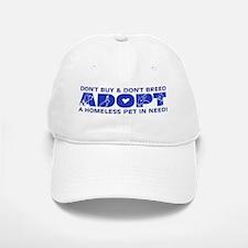 Blue Adopt Baseball Baseball Cap