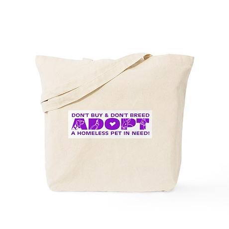 Purple Adopt Tote Bag