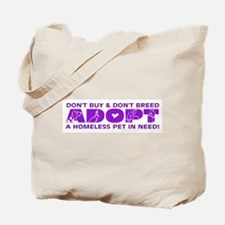 Purple Adopt Tote Bag