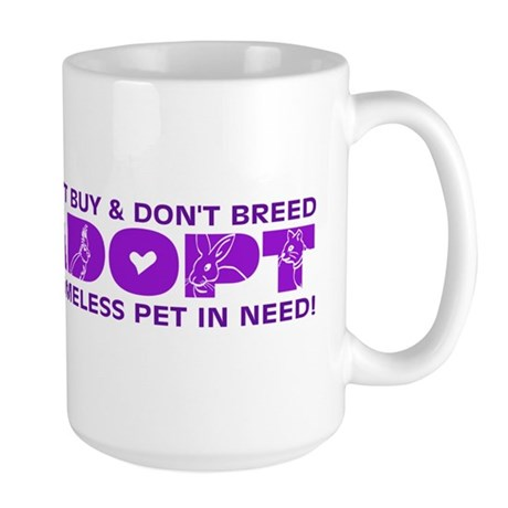 Purple Adopt Large Mug