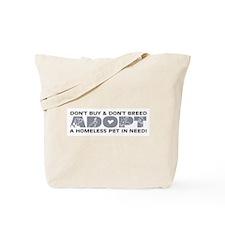 Grey Adopt Tote Bag