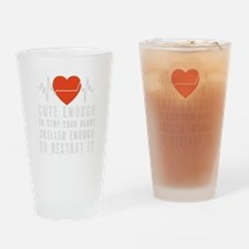 Unique Heart nascar Drinking Glass
