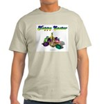 Happy Easter Bunny and Basket Ash Grey T-Shirt