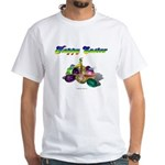 Happy Easter Bunny and Basket White T-Shirt