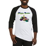 Happy Easter Bunny and Basket Baseball Jersey