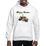 Happy Easter Bunny and Basket Hooded Sweatshirt