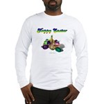 Happy Easter Bunny and Basket Long Sleeve T-Shirt