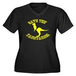 Save The Tauntauns! Women's Plus Size V-Neck Dark