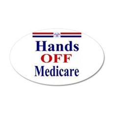 Hands OFF Medicare 22x14 Oval Wall Peel