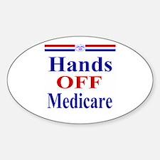 Hands OFF Medicare Sticker (Oval)