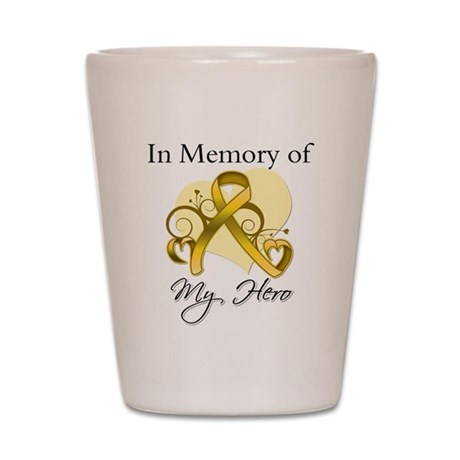 In Memory Childhood Cancer Shot Glass