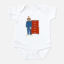 Sock Monkey Mechanic Infant Bodysuit