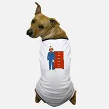 Sock Monkey Mechanic Dog T-Shirt
