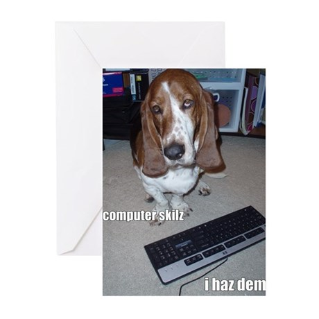 Computer Skilz Greeting Cards (Pk of 10)
