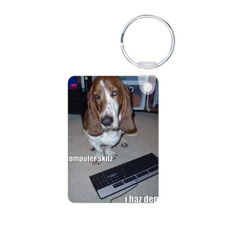Computer Skilz Aluminum Photo Keychain